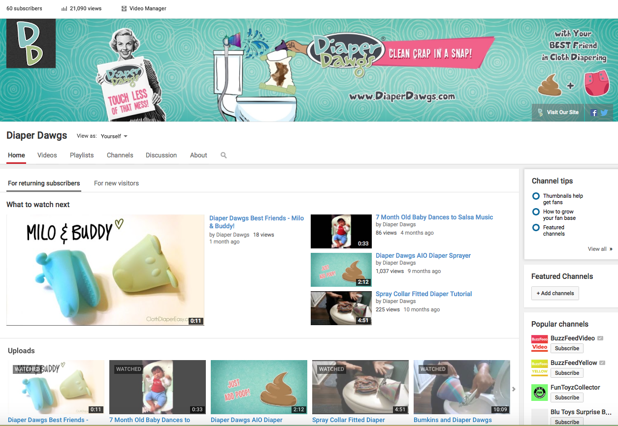 Diaper Dawgs Youtube Page Redo