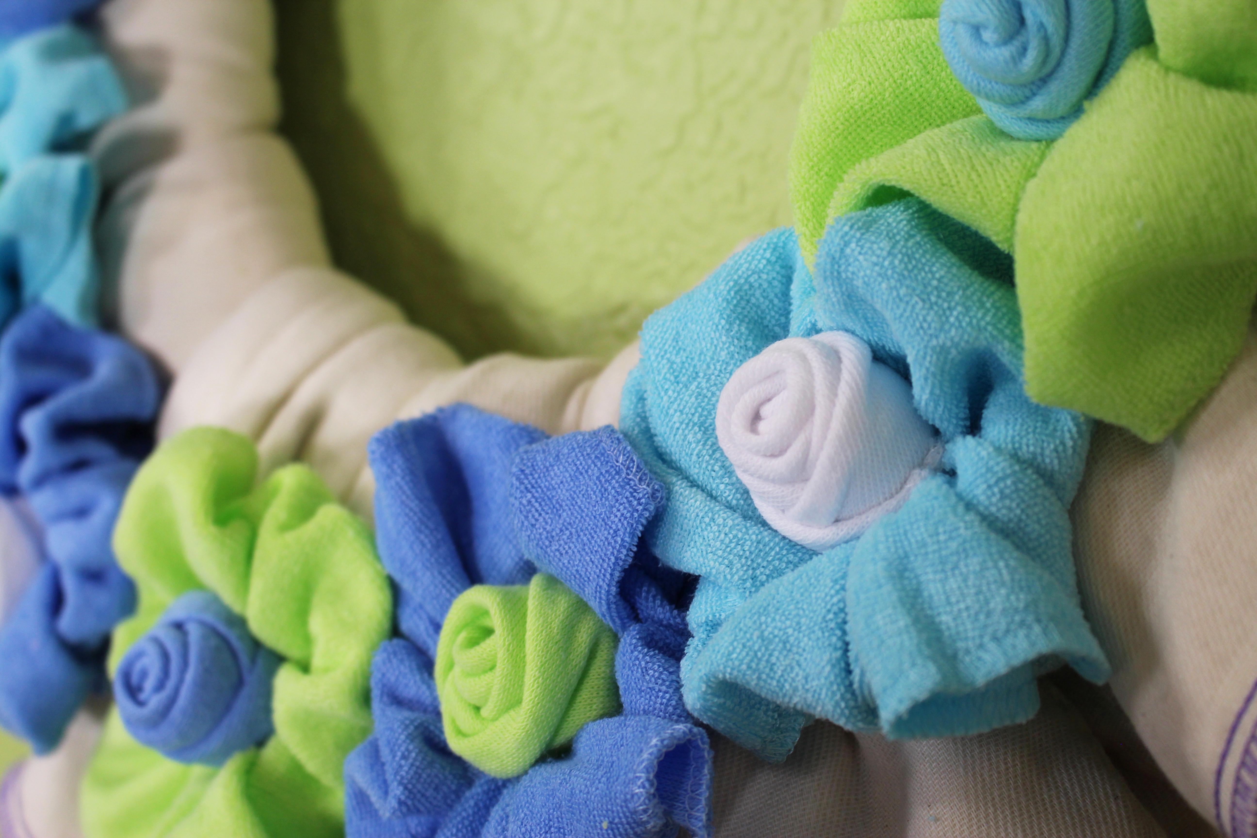 DIY Cloth Diaper Flower Wreath