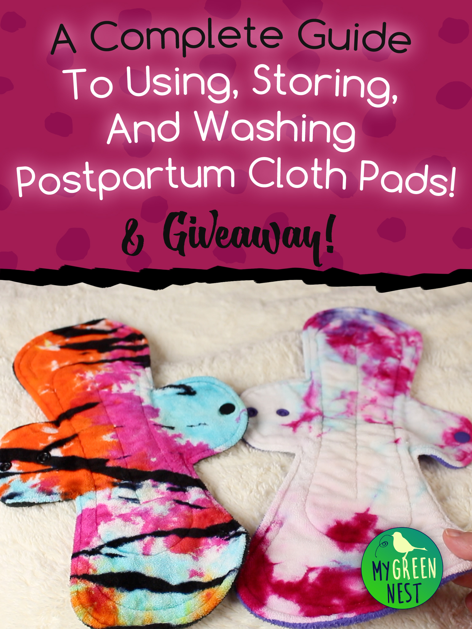 Everything you need to know about using, storing, and washing postpartum cloth pads