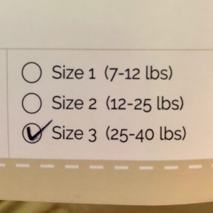 Buttons Diapers Prefolds - Size Ranges
