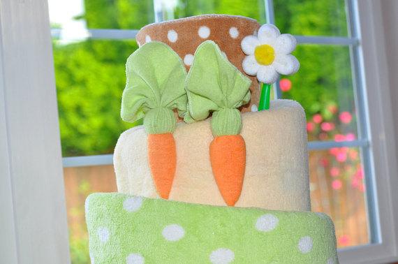 Easter Basket Cloth Diaper Cake Tutorial Mygreennest Com